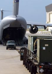 C-17 Globemaster III - AMC response groups establish airfield operations for hurricane relief Photo