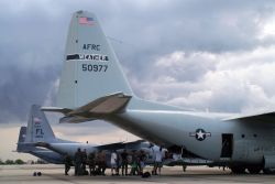 HC-130 P/N - AFRC flies missions to storm-ravaged areas Photo