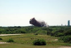 CAPE CANAVERAL AIR FORCE STATION - Historic Cape Canaveral tower toppled Photo