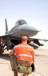 F-16 - F-16 pilots provide support for troops on the battlefield Photo