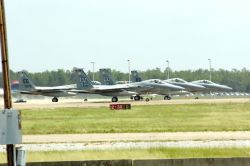 F-15 Eagles - Hurricane Dennis: Officials issue stop movement Photo