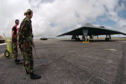 B-2 - Airmen help improve B-2 aircraft maintenance in Guam Photo
