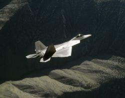 F/A-22 Raptor - Raptor mountains Photo