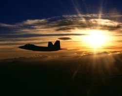 F/A-22 Raptor - Sunset Raptor Photo