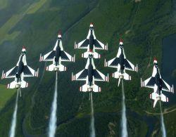 Thunderbirds - Delta formation Photo