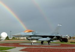 F-16 Fighting Falcon - Over the rainbow Photo