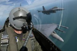 F-16 Fighting Falcons - Training with the Navy Photo