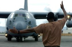 C-130 Hercules - Airmen prepare for humanitarian relief efforts Photo