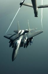 F-15E - Last stop for gas Photo