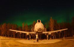 A-10 Thunderbolt ll - Lights in the sky Photo