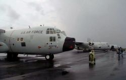 WC-130 - 'Hurricane Hunters' track storm threatening their home Photo