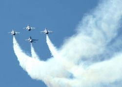 OVER ELLSWORTH AIR FORCE BASE - Thunderbirds in the sky Photo