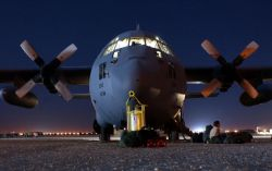 C-130 Hercules - Air Force helps Army with airdrops Photo