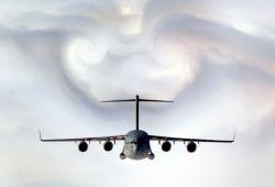C-17 Globemaster III - Parting clouds Photo