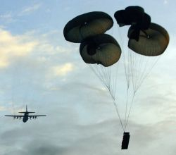 C-130 Hercules - Delivering the package Photo