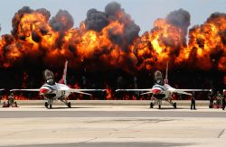 F-16 - Wall of Flames Photo