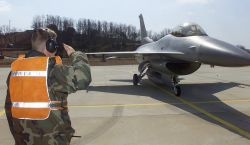 F-16 Fighting Falcon - Inspected salute Photo