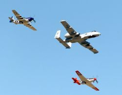 A-10 Thunderbolt II - P-51 Mustangs Photo
