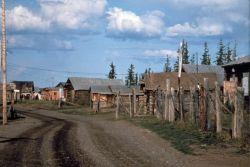 Street of Fort Yukon village Photo