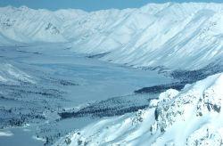 Junjik River Valley in Winter Photo