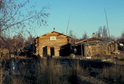 Huslia Log Buildings Photo