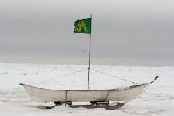 Bowhead Whaling Boat at Barrow, Alaska Photo