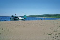 USFWS Grumman Goose Airplane on Imuruk Lake Photo