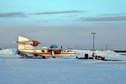 Air North Airplane in Winter Photo