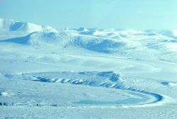 Noatak River in Winter - Aerial View Photo