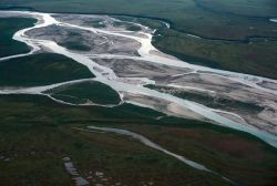 Noatak River Middle Section - Aerial View Photo