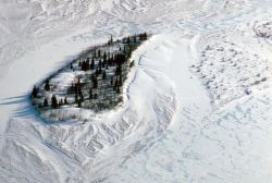 Noatak River Island - Aerial Winter View Photo