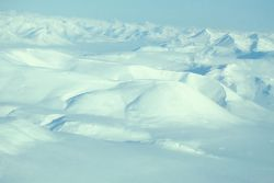Snow Covered Noatak River - Aerial View Photo