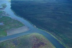 Noatak River Delta - Aerial View Photo