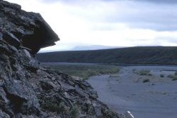 Rock Outcropping on the Noatak River Photo