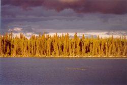 Sunset across Scoter Camp Lake Photo