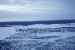 Huslia and Koyukuk River in Winter Photo