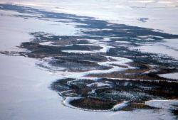 Selawik River in Winter Photo