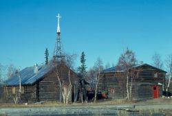 Huslia Log Church Photo