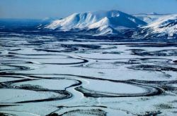 Mountains and Meandering Rivers Photo