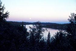 Full Moon over Nikiski Lake Photo