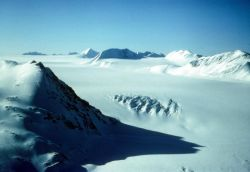 Harding Ice Field Above Skilak Glacier Photo