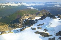 Mountain Tops and Glacier - Aerial View Photo