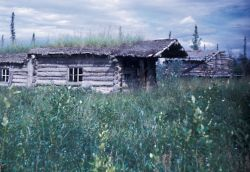 Trapper Cabin Along the Banks of the Coleen River Photo