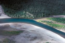 Noatak River Above Village - Aerial View Photo