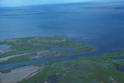Noatak River Delta - Aerial View Photo