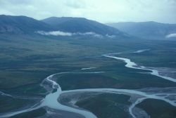 Noatak River - Upper 3rd - Aerial View Photo