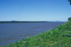 The Yukon River at the Village of Kaltag Photo