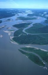 Yukon River in Summer - Aerial View Photo
