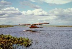 Float Plane on Lake Photo