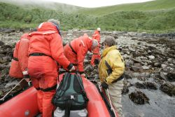 Chowiet Island, camp crew goes ashore Photo